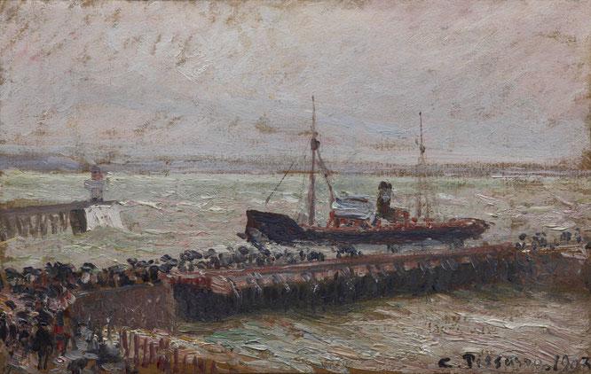 《ル・アーブル港に入稿する船》1903年