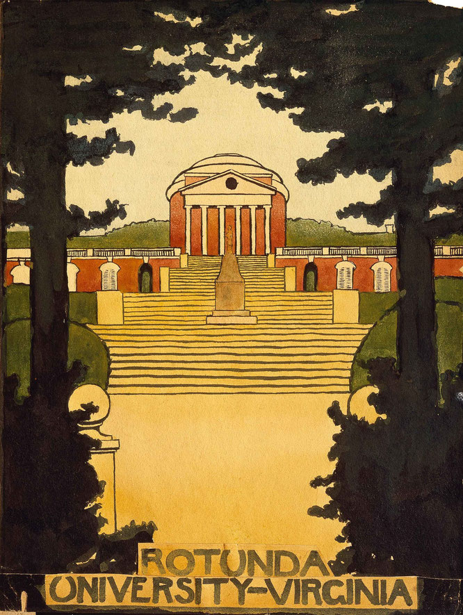 《ヴァージニア大学の円形校舎》1912-1914年