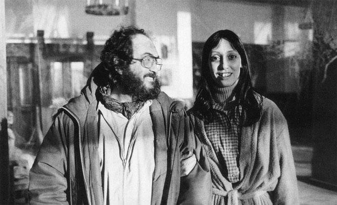 『シャイニング』撮影時のキューブリックとシェリー・デュヴァル