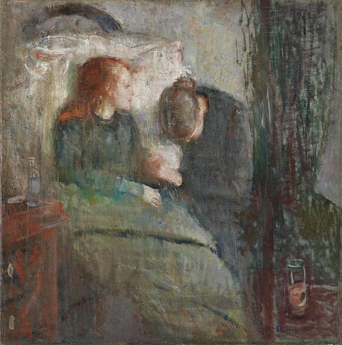 エドヴァルド・ムンク「病気の子ども」(1885-1886年)