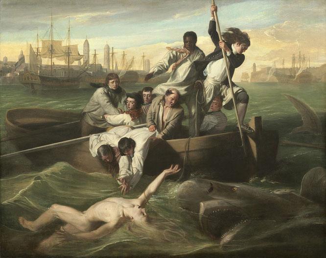 ジョン・シングルトン・コプリー「ワトソンとサメ」