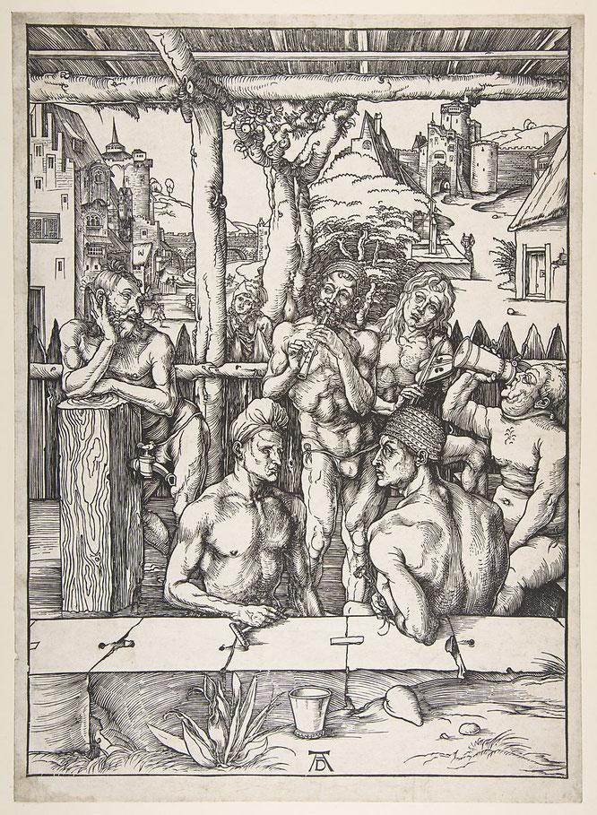 《男たちの浴場》,1496年頃