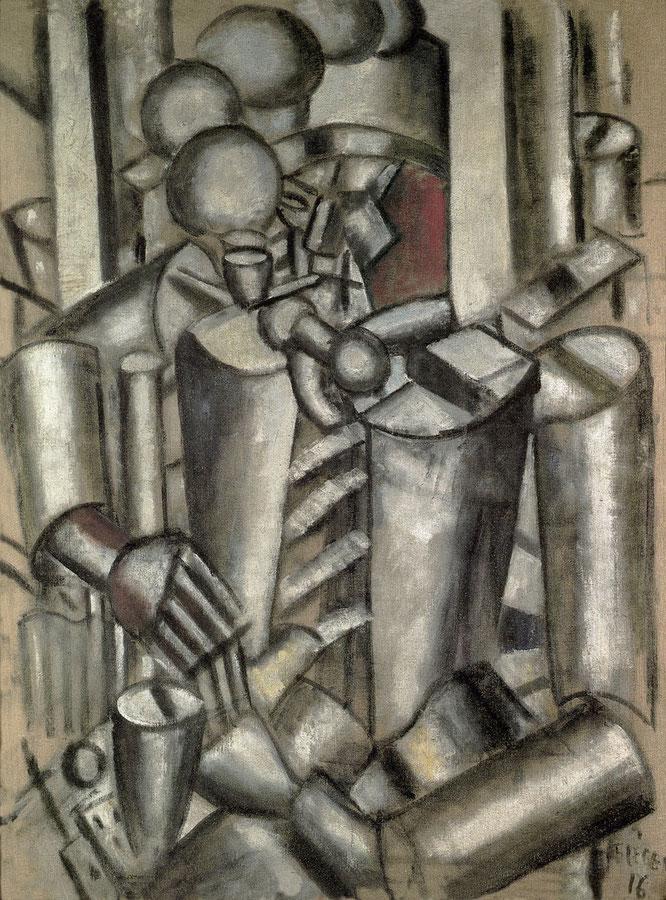 フェルナンド・レジェ「パイプをくわえた兵士」(1916年)