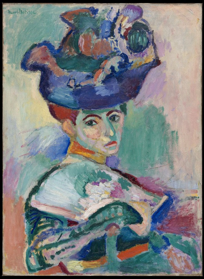 アンリ・マティス《帽子の女》1905年