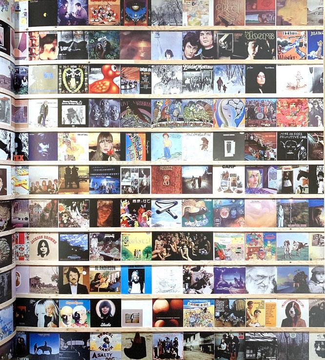 奈良のレコードコレクション。