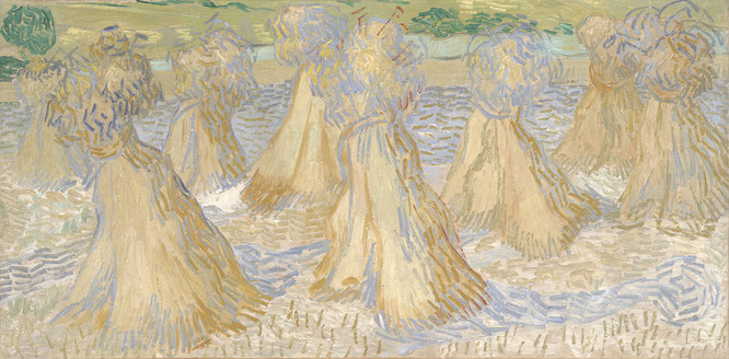 フィンセント・ファン・ゴッホ「小麦の山のある畑」(1890年)