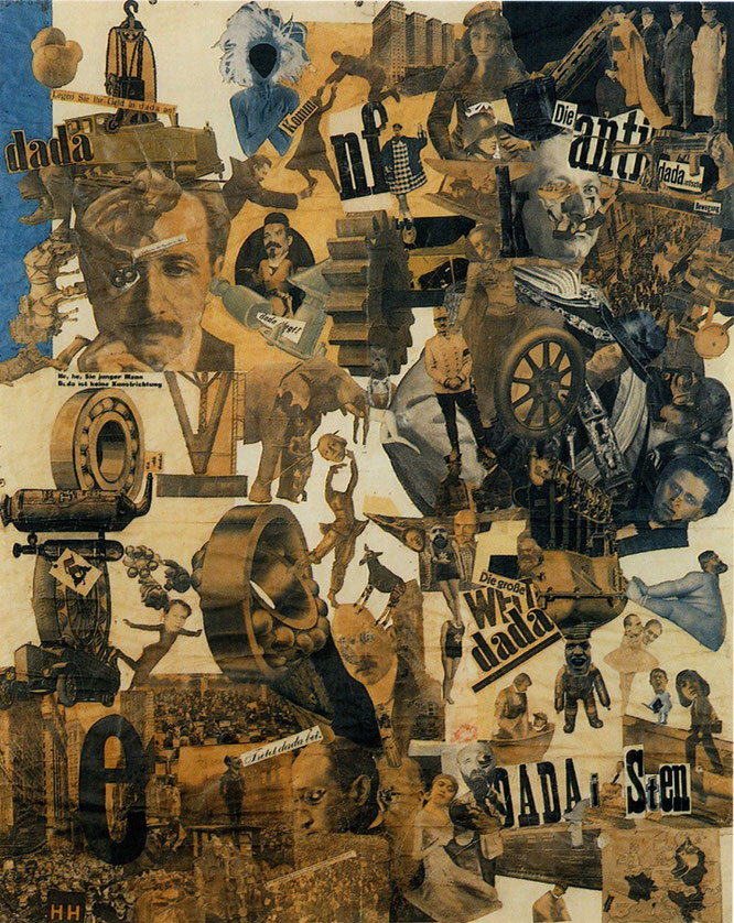 ハンナ・ヘッヒ《ダダの包丁で切断されたドイツ国最新のヴァイマル・ビール腹文化時代》1919-20年
