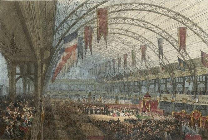 1855年のパリ万国博覧会「産業宮」