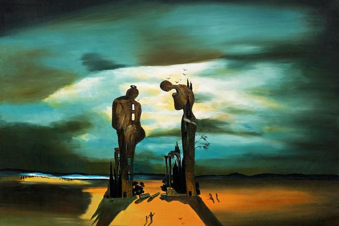 サルバドール・ダリ『古典解釈 ミレーの「晩鐘」』(1933-1935年)