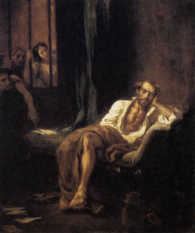 ドラクロワ《フェラーラの聖アンナ病院のタッソ》