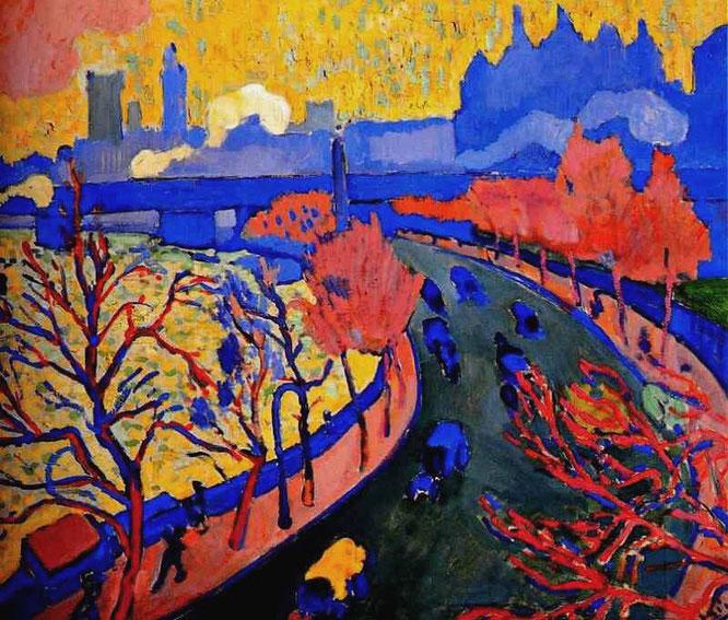 アンドレ・ドラン「チャリング・クロス橋」(1906年)