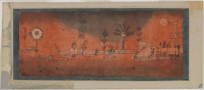 パウル・クレー「トロピカル・ガーデン」(1923年)