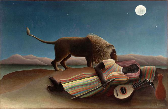 アンリ・ルソー「眠るジプシー女」(1897年)