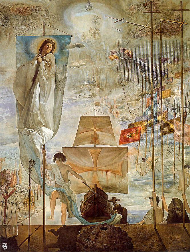 サルバドール・ダリ「クリストファー・コロンブスによるアメリカの発見」(1958-1959年)