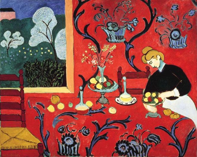 アンリ・マティス《赤いハーモニー》1908年