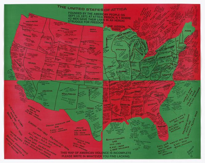 フェイス・リングゴールド『アッティカ合衆国』,1971-1972年