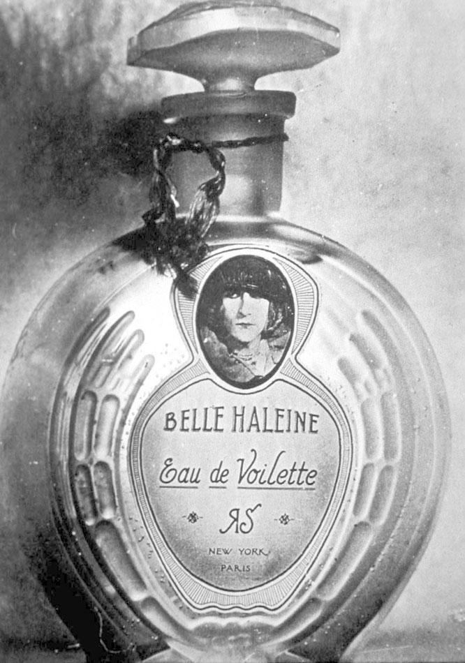 「ベラレーヌ: オー・ド・ヴォワレット」(1921年)。リゴーの香水瓶のラベルを独自のものに付け替えている。