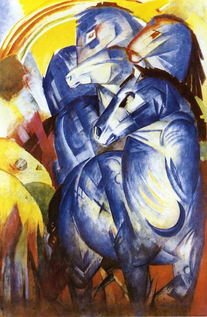 フランツ・マルク「青い馬の塔」(1913年)