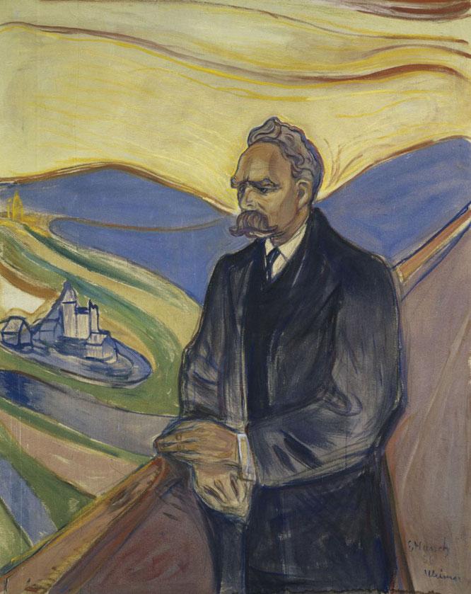 エドヴァルド・ムンク《フリードリヒ・ニーチェの肖像》,1906年
