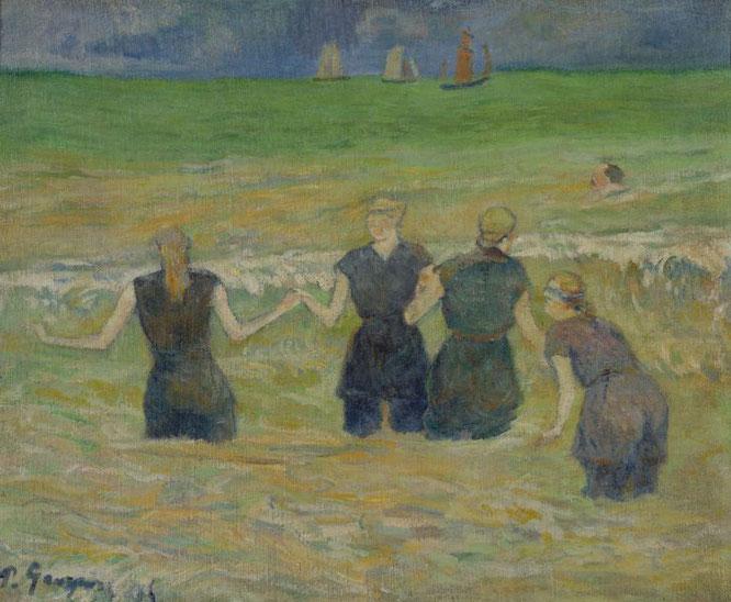 ポール・ゴーギャン「水浴する女たち」(1885年)