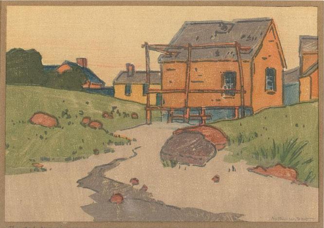 アーサー・ウェスレイ・ダウ《クラムハウス》1892年