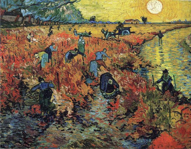 フィンセント・ファン・ゴッホ「赤い葡萄畑」(1888年)
