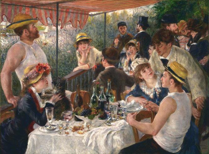 《舟遊びをする人々の昼食》1881年