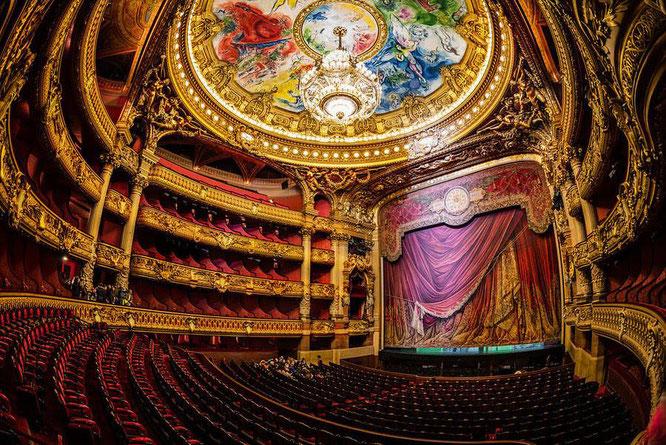 シャガールが担当したパリ・オペラの天井画。