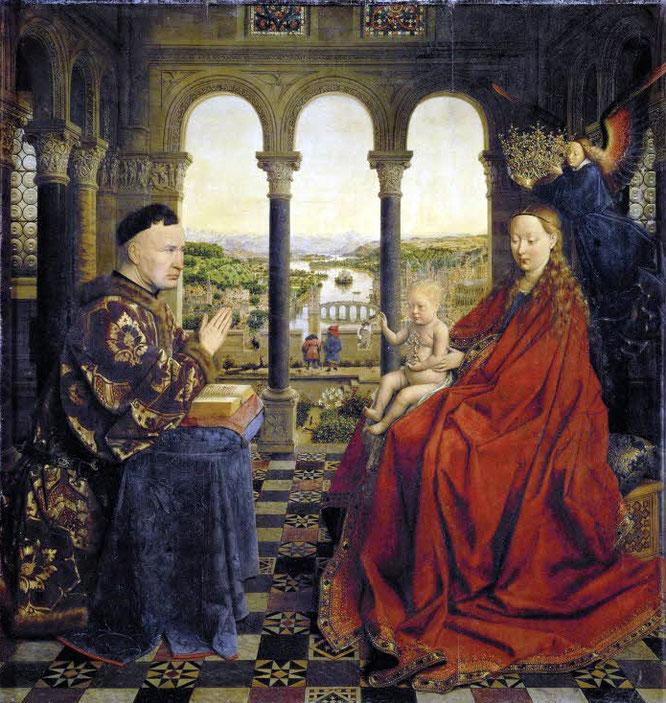《ローリン議長の聖母》,1435年