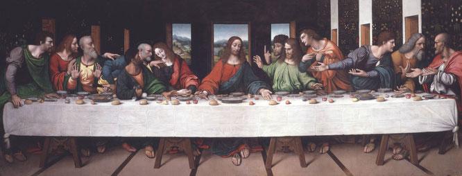 ジャンピエトリーノ作《最後の晩餐》1520年,キャンバスに油彩