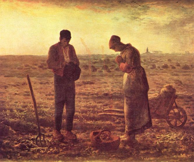 ミレー『晩鐘』(1855−57年)