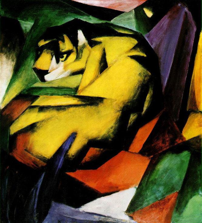 フランツ・マルク「虎」(1912年)