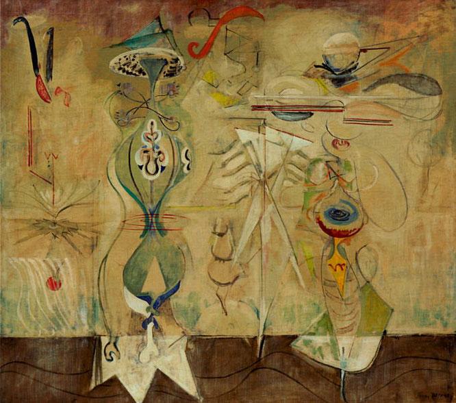 マーク・ロスコ『海辺のゆっくりした旋回』(1944-1945年)
