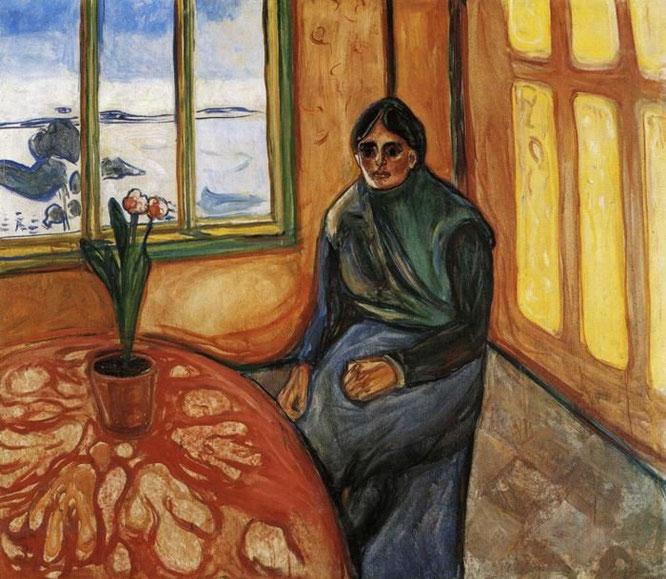 エドヴァンド・ムンク「メランコリー(ラウラ)」(1899年)