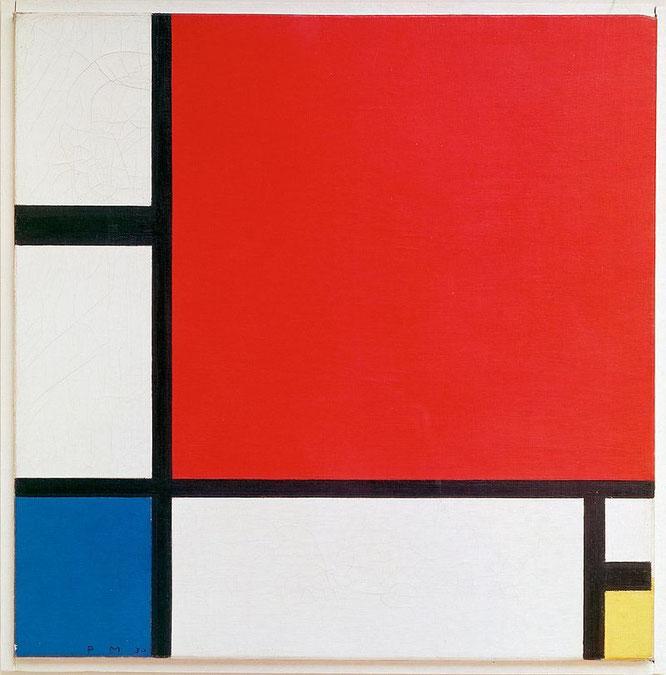 「コンポジション2 赤、青、黄」(1930年)