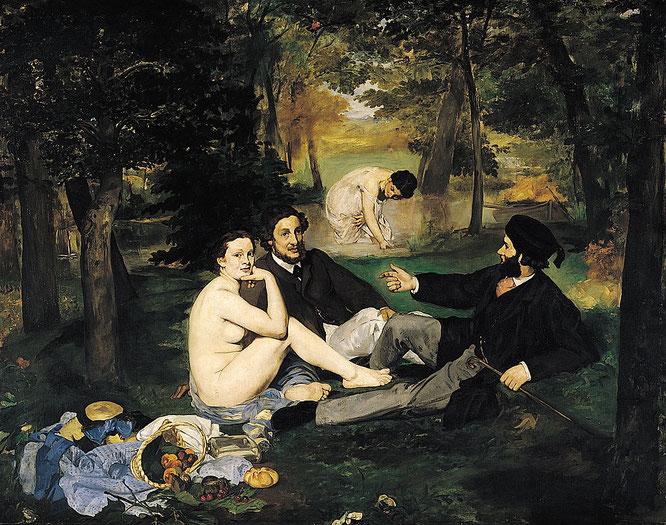エドゥアール・マネ「草上の昼食」(1862-1863年)
