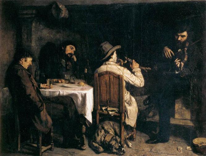 《オルタナンの夕食後》1848年