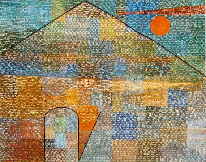 パウル・クレー「パルナッソス山へ」(1932年)