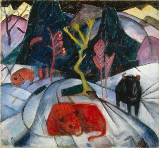 フランツ・マルク「動物の運命」(1913年)