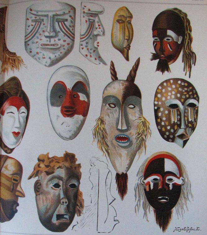 1898年にレオ・フロベニウスによって出版されたコンゴのマスクに関する本。