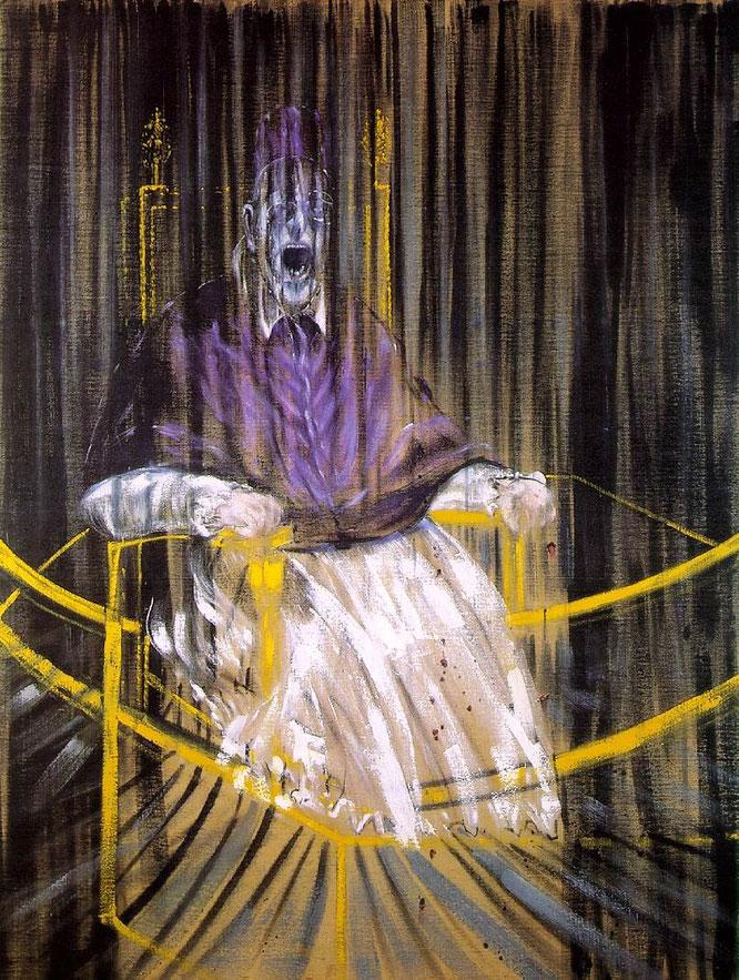 『ベラスケスによるインノケンティウス10世の肖像画後の習作』(1953年),公式サイトより