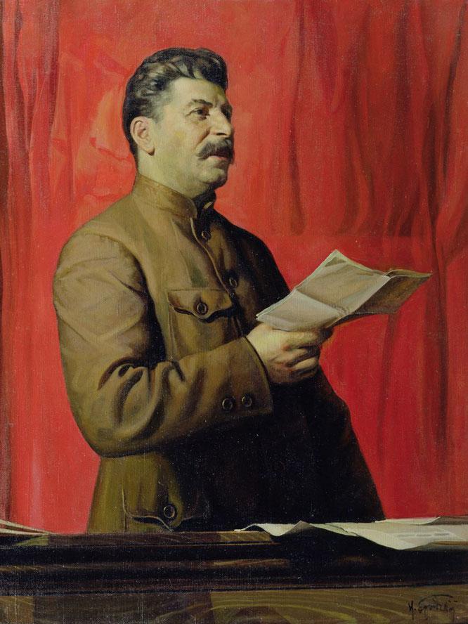 イサーク・ブロドスキー《スターリンの肖像画》