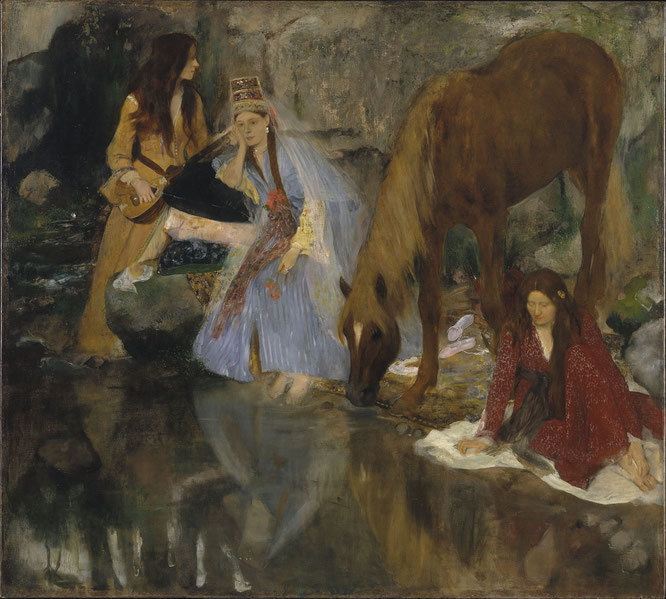 《バレエ、ミス・フィオレの肖像「夢の肖像」》1868年