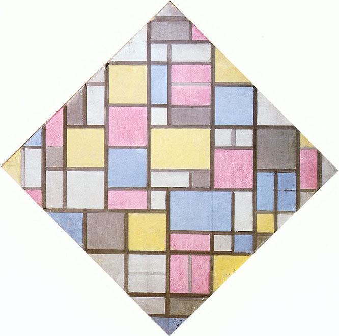 「Composition with grid vii」(1919年)