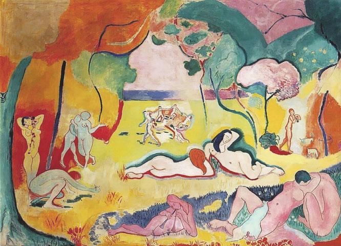アンリ・マティス《生きる喜び》1905-1906年