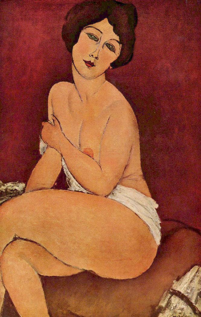 アメデオ・モディリアーニ「ソファーに座る裸体」(1917年)