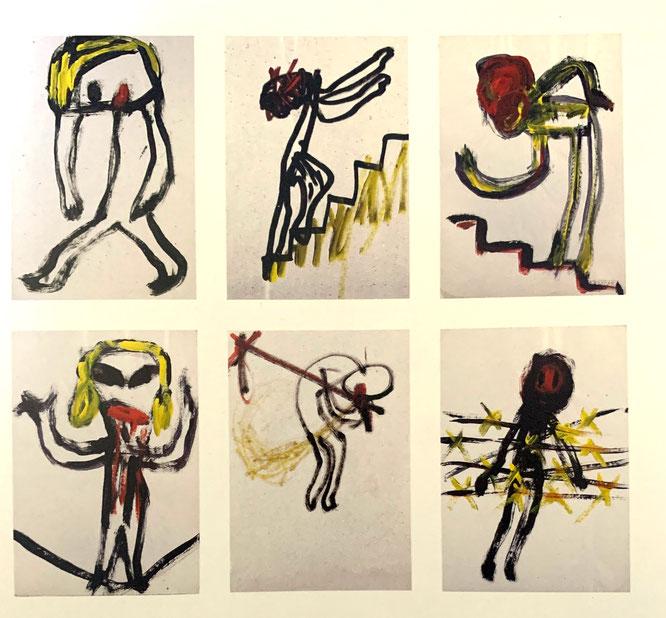 《無題》,1989年,アクリル絵画
