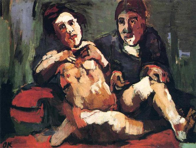 オスカー・ココシュカ『人形と私』(1921年)