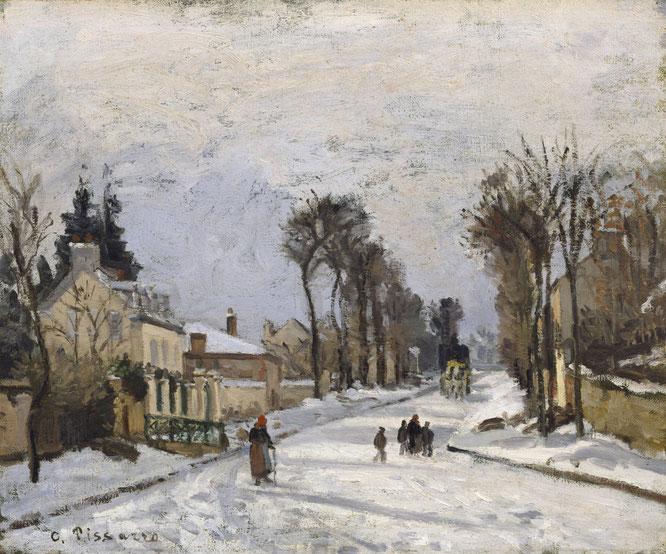 《ルーヴシエンヌのヴェルサイユに向かう道》1869年