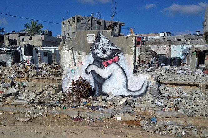 ※1:廃墟に描かれた子猫。